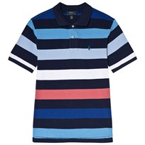 Ralph Lauren Navy Multi Stripe Short Sleeve Polo Newport Navy Multi