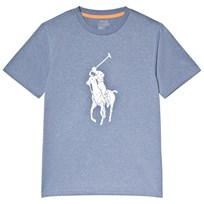 Ralph Lauren Navy Branded Performance T-Shirt Seahorse Heather