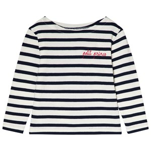 "Image of Maison Labiche ""Petit Prince"" Striped Tee White/Navy 12 years (2990303763)"
