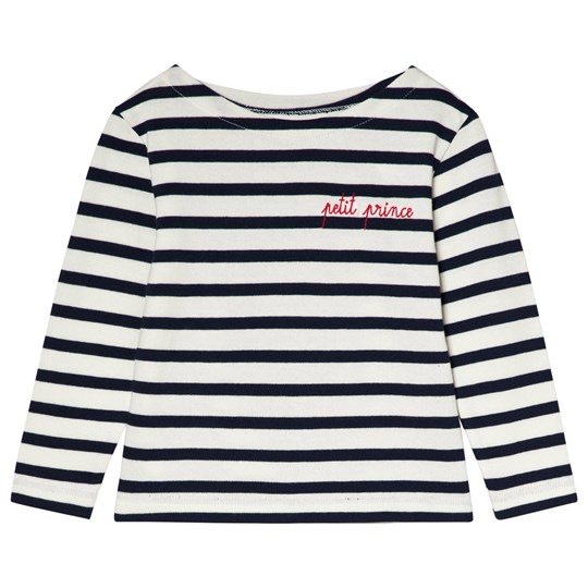 "Maison Labiche ""Petit Prince"" Striped Tee White/Navy OFF WHITE DARK BLUE"