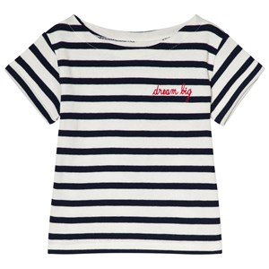 """Image of Maison Labiche Exclusive """"Dream Big"""" Striped Tee White/Navy 12 years (2990303183)"""