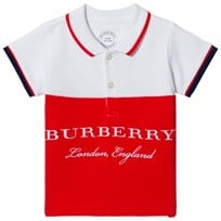 Burberry White Classic Branded Dary Polo White