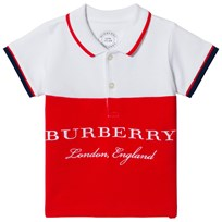 Burberry Pique Baby Shirt Red White