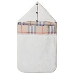 Burberry Quilted Cotton Baby Nest White