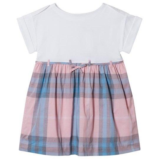 Burberry Check Cotton Dress Ice Pink Ice Pink