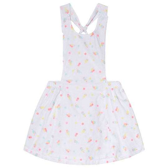 Ice Cream Print Pinafore Klänning Vit Billieblush Babyshop
