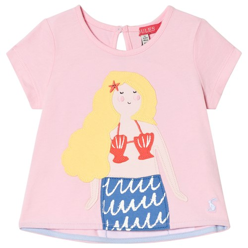 Tom Joule Mermaid T skjorte Rosa Babyshop.no