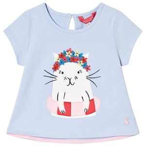 Image of Tom Joule Swimming Cat Applique T-Shirt Blue 1 year (2993155487)