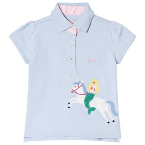 Image of Tom Joule Unicorn Applique Polo Top Blue 1 year (2993155589)
