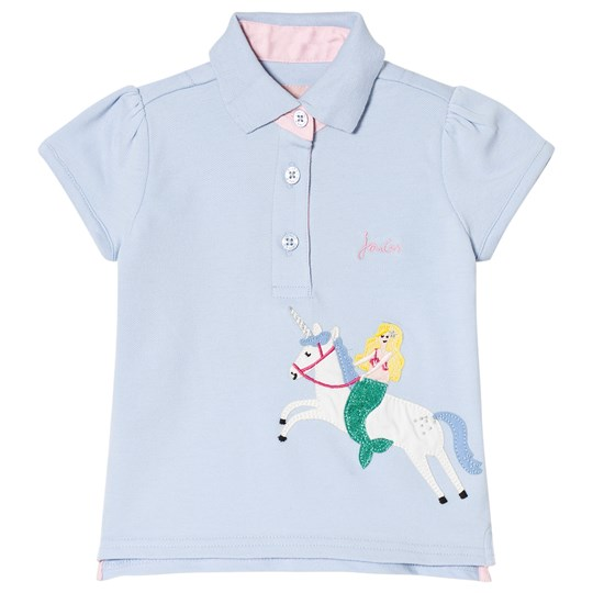 Tom Joule Unicorn Applique Polo Top Blue SKY BLUE UNICORN