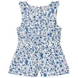 Joules Ditsy Floral Jersey Frill Romper Blå