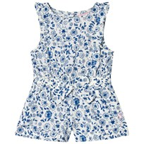 Tom Joule Ditsy Floral Jersey Frill Romper Blue FOLKSTONE DITSY
