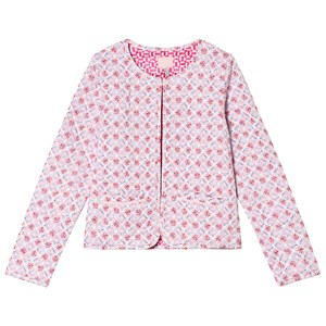 Image of Tom Joule Mosaic Print Quilted Cropped Jacket Pink 3 years (2993158851)