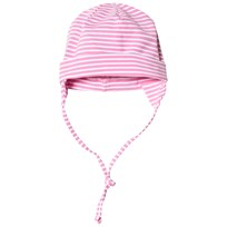 Maximo Baby Hat with Earflaps Pink and White Pink