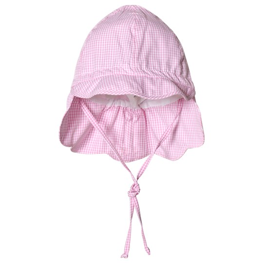 Maximo Checked Sun Hat Pink Pink
