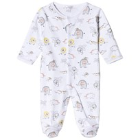 Kissy Kissy White Jungle Print Footed Baby Body WH