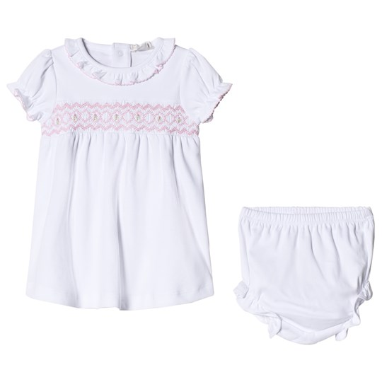 Kissy Kissy White Hand Embroidered Smock Dress with Bloomers WHPK