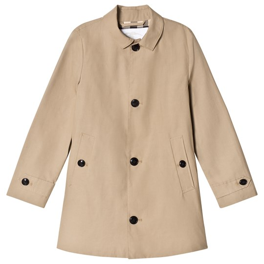 Burberry Honey Mercerised Car Coat Honey