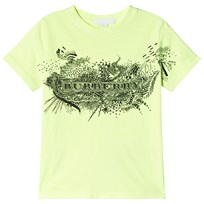 Burberry Doodle Print Cotton T-Shirt Bright Lemon Neon Yellow