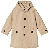 Burberry Honey Detachable Hood Mercerised Trench Coat Honey