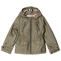 Burberry Hooded Packaway Technical Jacket Olive Olive