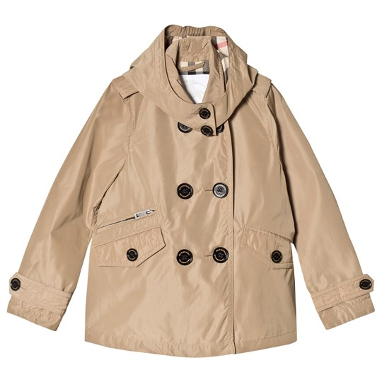 Burberry Honey Detachable Hood TaffetaTrench Coat Honey