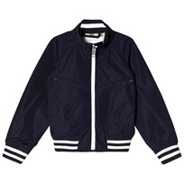 Burberry Hooded Lightweight Bomber Jacket Navy Laivastonsininen