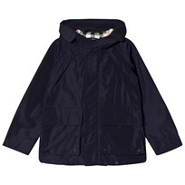 Burberry Hooded Taffeta Field Jacket Navy Laivastonsininen