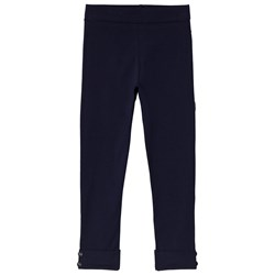 Dr Kid Leggings with Turn Up Button Detail Navy