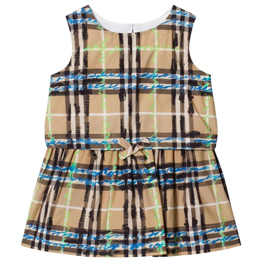 Burberry Gathered Check Dress Bright Blue Bright Blue