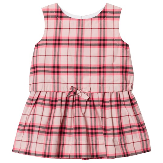 Burberry Gathered Check Dress Bright Rose BRIGHT ROSE