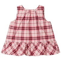 Burberry Ruffle Check Baby Top Bright Rose BRIGHT ROSE