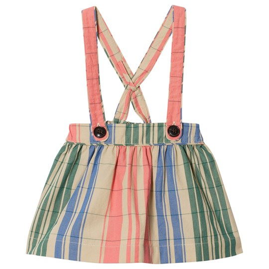 Burberry Check Gathered Pinafore Bright Coral Pink BRIGHT CORAL PINK