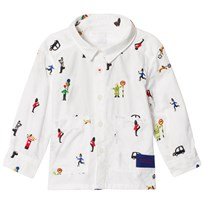 Burberry White London People Embroidered Shirt White