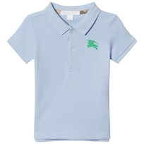 Burberry Sky Blue Baby Polo with Knight Branding Sky Blue