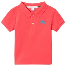 Burberry Coral Baby Polo with Knight Branding