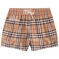Burberry Check Swim Shorts Camel Camel