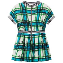 Burberry Scribble Check Dress Aqua Blue Aqua Blue