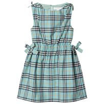 Burberry Tie Detail Check Dress Bright Aqua BRIGHT AQUA