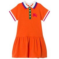 Burberry Stretch Polo Dress Bright Clementine Melange BRT CLEMENTINE MEL