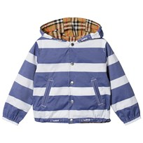 Burberry Vintage Check Jacket in Navy White Navy/White