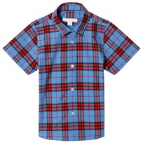 Burberry Short Sleeve Check Shirt Cornflower Blue Cornflower Blue
