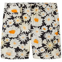 Burberry Daisy Print Chino Shorts Black Black