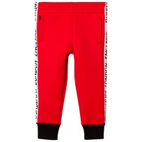 Burberry Bright Red Stripe Detail Sweatpants Bright Red