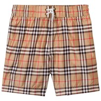 Burberry Vintage Check Swim Shorts Camel Camel