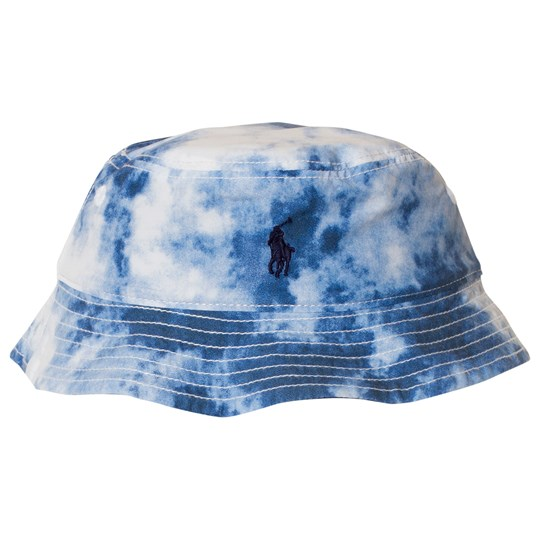 Ralph Lauren Blue Tie Dye Reversible into Navy Sun Hat 001