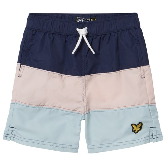 Lyle & Scott Navy, Pink and Blue Color Block Swim Shorts Navy