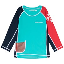 Didriksons Surf Long Sleeve UV Top Pale Turquoise Blue