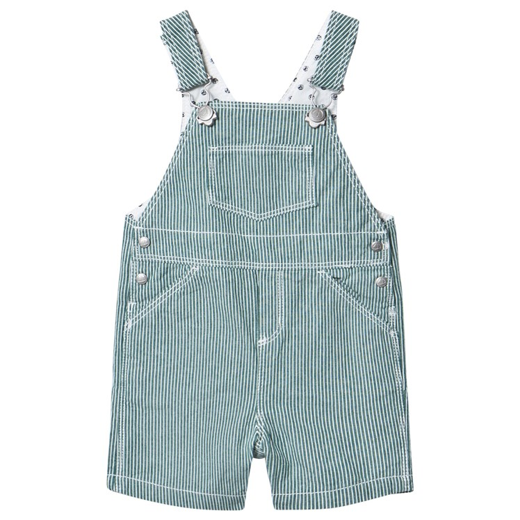Penguin Dungaree Shorts Set Outfit & Mustard Knitted