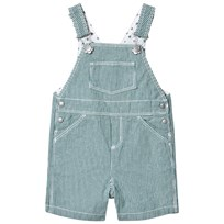 Petit Bateau Green and White Striped Overalls Green with White Stripes